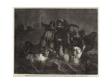The Passage over the Styx to the City of Dis Giclee Print by Ary Scheffer