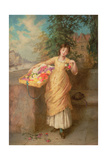 The Flower Seller, 1882 Giclee Print by Augustus Edward Mulready