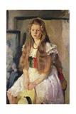 Anna in White, 1918 Giclee Print by Armando Spadini