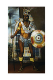 Portrait of Montezuma II Tecnochtitlan (Circa 1466-1520), Last King of Aztecs, 1680-1697 Giclee Print by Antonio Rodriguez