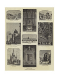 Paris Illustrated Giclee Print by Auguste Victor Deroy