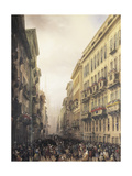 Carnival in Milan Giclee Print by Carlo Bossoli