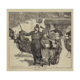 Graphic America, the Shakers, Police Convoy in Boston Giclee Print by Arthur Boyd Houghton