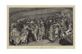 Between Decks in an Emigrant Ship, Feeding Time, a Sketch from Life Giclee Print by Arthur Boyd Houghton