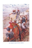The Priests March around Jericho Giclee Print by Arthur A. Dixon