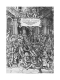 Title Page of De Humani Corporis Fabrica (Latin for on Fabric of Human Body) Giclee Print by Andreas Vesalius
