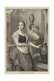 Margaret at the Fountain Giclee Print by Ary Scheffer