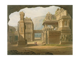 Great Excavated Temple at Ellora in 1813 Giclee Print by Captain Robert M. Grindlay