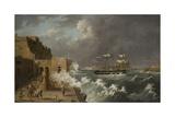 Harbour Scene, Malta Giclee Print by Anton Schranz