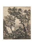 Landscape with Tobias and the Angel, C. 1660 Giclee Print by Anthonie Waterloo