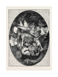 The International Exhibition: Linnets Defending their Nest Against a Dormouse Giclee Print by Auguste Cain