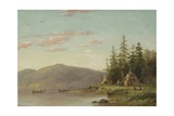 Chippewa Encampment on the Upper Mississippi, C.1845 Giclee Print by Seth Eastman