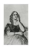 Delphine De Girardin Giclee Print by Andre Adolphe Eugene Disderi