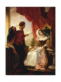 Tasso Reading His Verses to the Duchess Eleonora D'Este Giclee Print by Cesare Mussini
