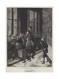 A Christmas Party, Out in the Cold Giclee Print by Augustus Edward Mulready