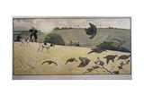 Partridge Hunting Giclee Print by Cecil Aldin