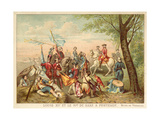 Louis XV of France and Marshal De Saxe at the Battle of Fontenoy, 1745 Giclée-Druck von Antoine Charles Horace Vernet