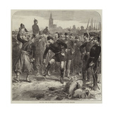 The War, Fall of Strasbourg, Departure of French Prisoners Gicléetryck av Hopkins, Arthur