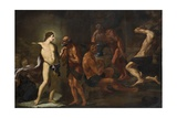 Apollo in the Forge of Vulcan Giclee Print by Andrea Sacchi