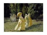 The Favorites in the Park, 1870 Giclee Print by Cesare Biseo