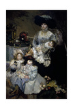 De Carolis' Wife and Children, 1908 Giclee Print by Armando Spadini