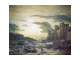 Sunset after a Storm in Portovenere in the Gulf of La Spezia, 1857 Giclee Print by Andreas Achenbach