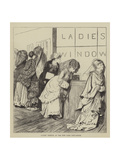 Ladies' Window at the New York Post-Office Giclee Print by Arthur Boyd Houghton