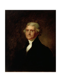 Portrait of Thomas Jefferson, C.1835 Giclee Print by Asher Brown Durand