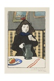 Young Girl with a Pitcher, 1890 Giclee Print by Auguste Lepere