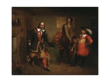 Peter Stuyvesant (1592-1672) and the Trumpeter, 1835 Giclee Print by Asher Brown Durand