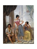 Group of Gypsies, 1849 Giclee Print by Auguste Migette