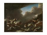 Storm at Sea Giclee Print by Andries van Eertvelt