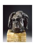 Balzac, Head before the Last Study Giclee Print by Auguste Rodin