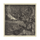 Buffalo Hunting, Camping Out Giclee Print by Arthur Boyd Houghton