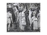Grape Harvest Reproduction procédé giclée par Camille Pissarro