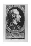 Portrait of Jean François Marmontel, 1765 Reproduction procédé giclée par Augustin De Saint-aubin