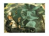 Gambling with Death, 1883 Wydruk giclee autor Bernard Gillam