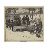 Graphic America, a Boston Snow Plough Giclee Print by Arthur Boyd Houghton