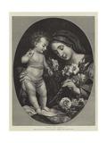 Virgen y el niño Lámina giclée por Carlo Dolci