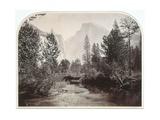 Taysayac, Half Dome, 4967 Ft, Yosemite, 1861 (Mammoth Plate Albumen Print) Giclee Print by Carleton Emmons Watkins