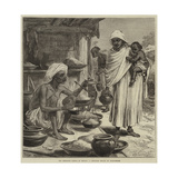 The Impending Famine in Bengal, a Bengalee Beniah or Grain-Seller Gicléetryck av Hopkins, Arthur