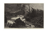 A Thunderstorm in the Bavarian Mountains Giclee Print by August Albert Zimmermann