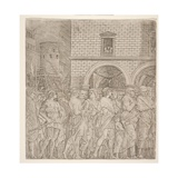 The Senators, from 'The Triumph of Julius Caesar, C.1495 Giclee Print by Andrea Mantegna