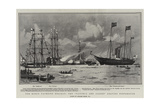 The King's Yachting Holiday, the Victoria and Albert Leaving Portsmouth Giclee Print by Charles Edward Dixon