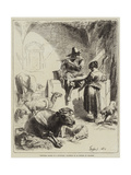 Shepherd Seated at a Fountain Giclee Print by Benjamin Herring