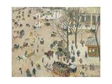 La Place Du Théâtre Français, 1898 Reproduction procédé giclée par Camille Pissarro