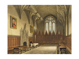 Interior View of the Hall of University College from the 'History of Oxford' Giclee Print by Augustus Charles Pugin