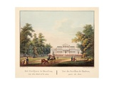 Het Paviljoen Te Jaarlem, Van Den Hout Af Te Zien. Vue Du Pavillon De Harlem, Prise Du Bois, 1825 Giclee Print by Bendrik Greeven
