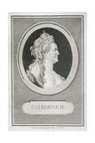 Catherine II (1729-96) Reproduction procédé giclée par Augustin De Saint-aubin