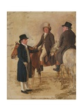 Three Worthies of the Turf at Newmarket, C.1804: John Hilton, Judge of the Canvas) Giclee Print by Benjamin Marshall